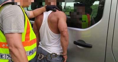 Lengyel embercsempészt fogtak az M1-esen (helyszíni fotók)