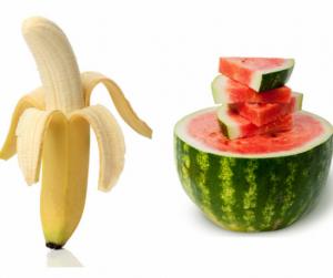 Banán kontra görögdinnye: megdöbbensz, hogy miben mennyi kalória van