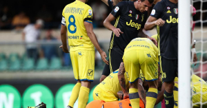 Juve: a kapus eszméletlenül feküdt, Dybala és Chiellini meg… – videó
