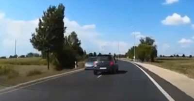 Életveszélyes előzés Sárvár közelében – videó