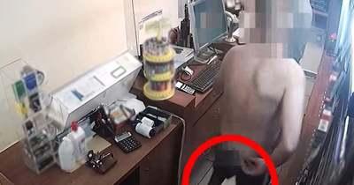 Videón a férfi, aki részegen, félmeztelenül rabolt ki egy kaposvári trafikot