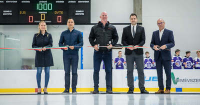Modern jégcsarnokkal bővült Veszprém sportinfrastruktúrája