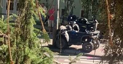 Oszlopnak ütközött egy quad Egerben (fotók)