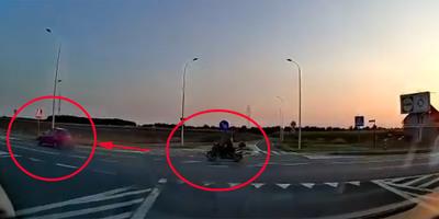 A kereszteződés előtt előzött a gyorshajtó motoros, a következő pillanatban halott volt