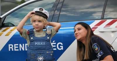 A négy éves Armand álmát váltották valóra a rendőrök