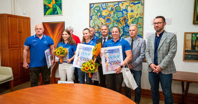 A csabai olimpikonokat köszöntötték a városházán