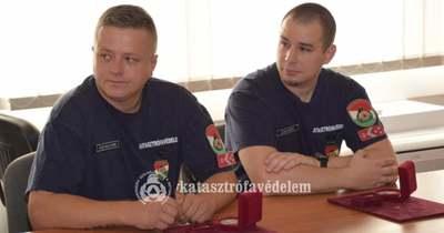 Hősies helytállásáért elismerést kapott két szekszárdi tűzoltó