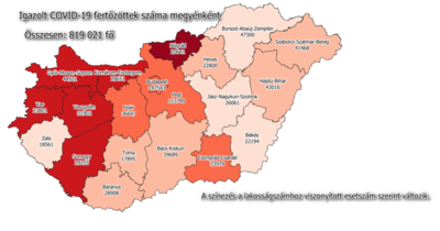 Megérkeztek a legfrissebb Békés megyei adatok