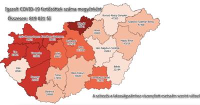 Koronavírus: itt vannak a legfrissebb jászkunsági adatok