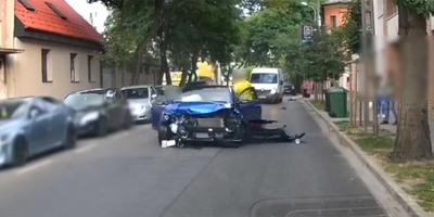 Brutális budapesti karambolt vett fel egy kamera, az egyik sofőr másodpercekig eszméletlen volt