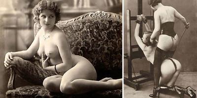 Csupasz fenekek, pucér mellbimbók, vékony és húsos lányok - Erotikus francia képeslapok a múltból (18+) – Galéria