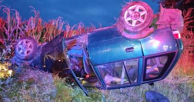 Mindkét autó felborult az Inke és Vése közötti balesetben