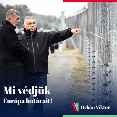 Orbán Viktor: Határszemle a cseh miniszterelnökkel - fotó