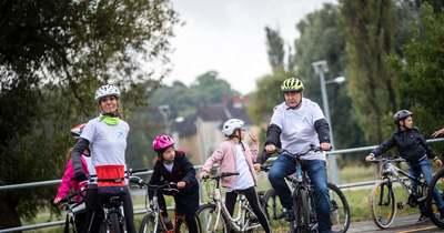 Új kerékpárút a Bakonyban