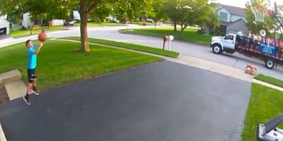 A kocsibeállón kosarazott, ami történt, azt a videó nélkül senki se hinné el neki