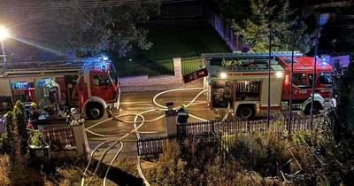 Lángokban állt a veszprémi társasház lakása csütörtök hajnalban