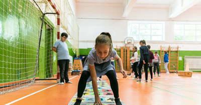 Sportoltak és még az iskola környezetét is rendbe tették a diákok