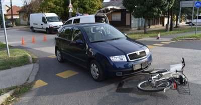 Kerékpáros fiút ütött el egy figyelmetlen sofőr Békéscsabán