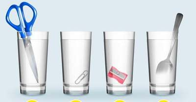Egy gyors fejtörő: melyik pohárban van több víz?