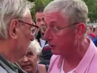 Gyurcsány Ferenc agresszíven megfenyegetett egy embert egy utcai rendezvényen - videó