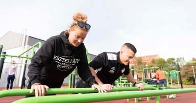 Birtokba vehették a sportolók az egyetem új kondiparkját