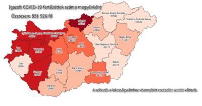 Koronavírus: így változott a fertőzöttek száma Bács-Kiskunban