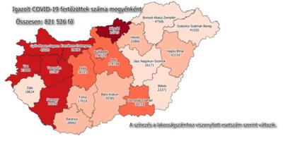Koronavírus: így változott a fertőzöttek száma Békésben