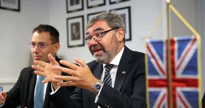 A klíma védelmének érdekében járt Kaposváron a brit nagykövet