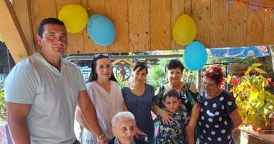 Századik születésnapján köszöntötték Losonczy Ferencné Máriát