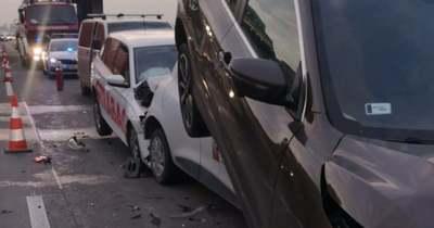 Szörnyű tömegbaleset történt az M0-áson: 10 autó ütközött