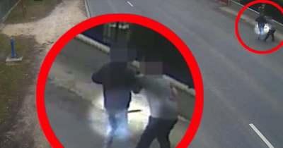 Járókelő fékezte meg a baltás garázdát Győrszemerén – videón a két férfi küzdelme