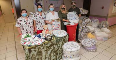 Babafészek csomagokat adományoztak a Zala Megyei Szent Rafael Kórháznak