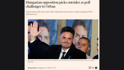 Bohár Dániel (Facebook): Hiszen egy brit üzletembernek mi lenne fontosabb mint Márki-Zay jelöltsége?