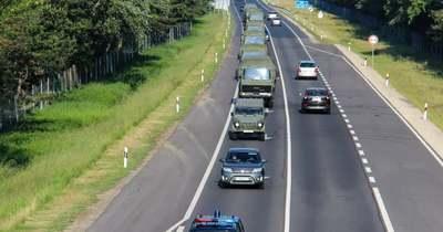 Megnövekedett katonai járműforgalom várható szerdán az M5-ös autópályán