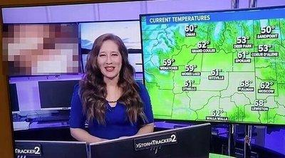 Durva baki a tévében: az időjárás-jelentés közben pornót mutattak