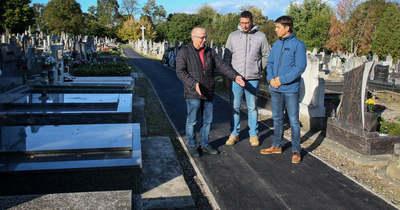 Megújultak a sírkertek Nagykanizsán