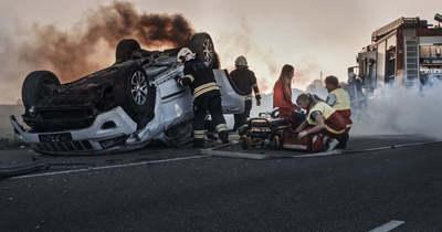 Felborult egy autó Felsőzsolcán