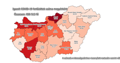 75 halálos áldozata volt a hétvégén a Covidnak, ennyi fertőzöttet találtak