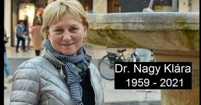Elhunyt Dr. Nagy Klára, a Szent Rafael Kórház Kardiológiai Rehabilitációs Osztály osztályvezető főorvosa