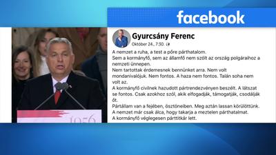 Orbán Viktor beszédét kritizálta Gyurcsány Ferenc
