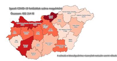 Koronavírus: így emelkedett a fertőzöttek száma Békésben