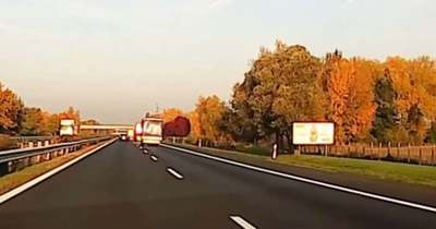 Az M1-esen történt tragédia előtt fél órával is majdnem súlyos baleset volt – videó