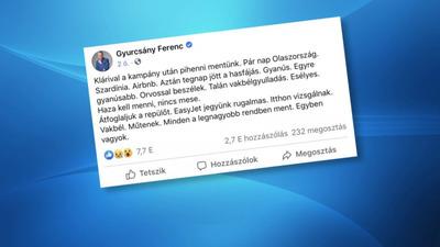 Vakbélgyulladással műtötték Gyurcsány Ferencet