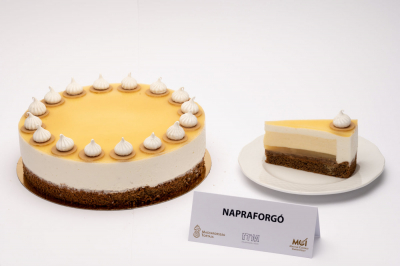 """Ilyen, amikor a napraforgó, a csokoládé, a körte és a méz """"szeretik egymást"""" - Magyarország Tortája 2021"""