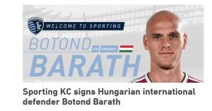 MLS: újabb magyar Kansas Cityben, Baráth aláírt – hivatalos