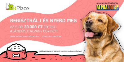 Nyerj most 20.000 Forintot a PetPlace állati hírlevelével!