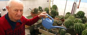 Rengeteg kaktusszal osztja meg otthonát a majd százéves Béla bácsi
