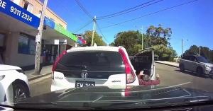 Ilyet sem láttunk még, saját magát gázolta el a balhézó sofőr – VIDEÓ