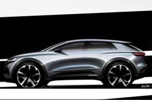 Újabb vázlatok a győri Audi Q4 e-tronról