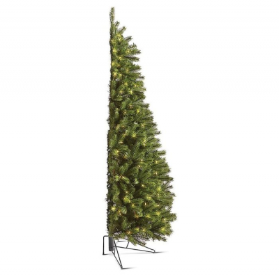 Elkészült a legpraktikusabb karácsonyfa: a fal mellé állítható félfa